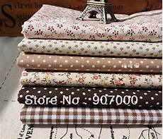 wholesale diy craft brown floral quilting fabric shabby