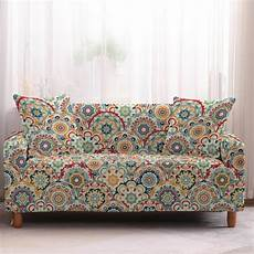 Patchwork Sofa Cover 3d Image by Multi Color Bohemian Patchwork Sofa Cover Slipcover