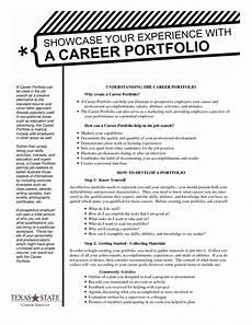 Personal Development Portfolio Sample Sample Of Portfolio Outline Career Portfolio Handout