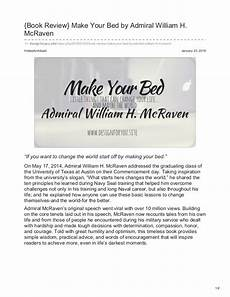 make your bed admiral william h mcraven