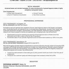Retail Sales Manager Resume Samples 23 Store Manager Resume Examples In 2020 Sales Resume