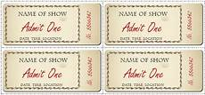Admission Ticket Template Word 6 Ticket Templates For Word To Design Your Own Free Tickets