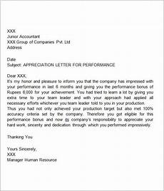 Letter Of Appreciation Format Free 27 Sample Thank You Letters For Appreciation In Pdf