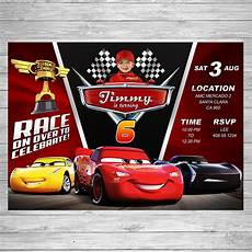 Cars Birthday Invites Disney Cars 3 Birthday Invitation Cars 3 Party Invite Disney