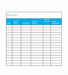 Free Wedding Guest List Template Wedding Guest List Template 10 Free Word Excel Pdf