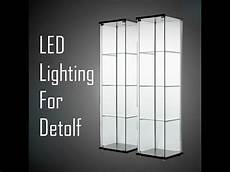 Detolf Cabinet Lighting Ikea Detolf Led Lighting Youtube