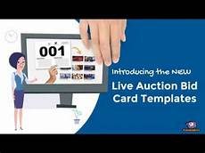 i bid live live auction bid card templates free