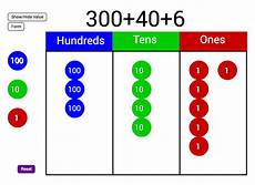 Place Value Chart With Disks Place Value Disks Geogebra