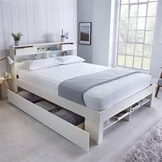 fabio king size storage bed white buy at qd stores