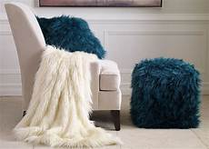 teal faux fur pouf faux fur throw throws living