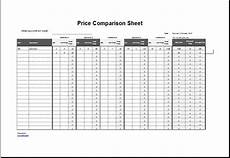 Price Comparison Spreadsheet Template Price Comparison Sheet Template For Excel Word Amp Excel