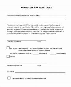 Paid Time Off Forms Free 13 Sample Time Off Request Forms In Pdf Ms Word
