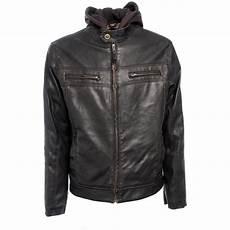 mens coats chaps s chaps 174 faux leather hoodie jacket 200195