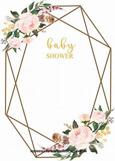 Baby Shower Invites Templates Word Free Floral Baby Shower Invitation Templates Vintage