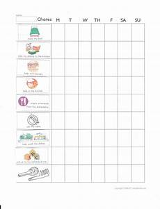 5 Year Old Chore Chart Printable Chore Chart For 3 5 Year Olds Chore Chart Kids Chores