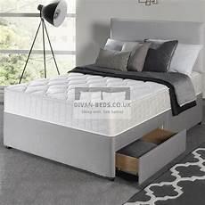 richard divan bed with memory foam mattress