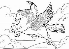 coloring page pegasus mythical creatures
