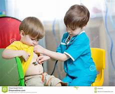 Children Play Doctor Children Boys Play Doctor Stock Image Image Of Cute