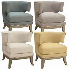 cool accent chairs unique accent chair barrel high curved back nailhead