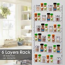 3 6 tier metal spice rack wall mount kitchen spices