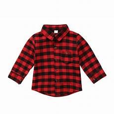 infant sleeve shirt children shirt plaid baby boy toddler