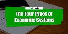 Types Of Economy The Four Types Of Economic Systems Quickonomics