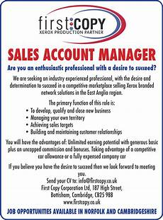 Job Advertisements Samples First Copy Sales Account Manager Your Local Paper