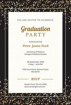 Invitation Template Word Free Free Simple Graduation Invitation Template In Microsoft
