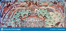 dunhuang grottoes frescoes editorial photo image of china