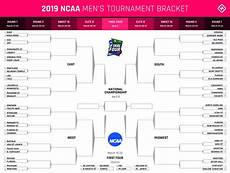 Bracket Sheets March Madness 2019 Bracket Printable Ncaa Tournament