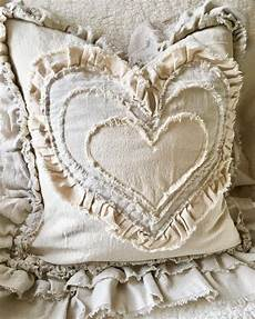 custom pillow cover with rustic ruffles pillow