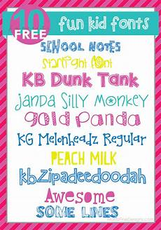 Fun Fonts Super Fun Kid Fonts Moritz Fine Blog Designs