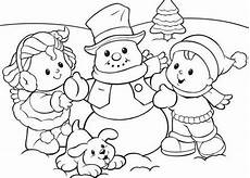preschool coloring pages winter snowman and 561739