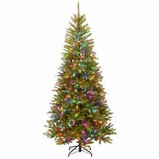 7 5 Slim Christmas Tree With Led Lights National Tree Company 7 5 Ft Powerconnect Dunhill Fir
