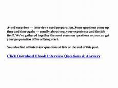 Describe Career Goals Describe Your Career Goals Interview Answer