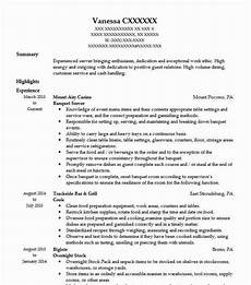 Banquet Resume Sample Banquet Server Resume Sample Resumes Misc Livecareer