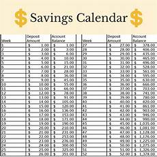 Money Calendar This Money Challenge Will Help You Save Over 1 300 A Year