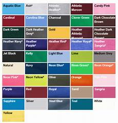 Port Company Color Chart Pc54 Short Sleeve Cotton Tee
