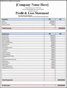 Ytd P L Template Printable Blank Profit And Loss Statement Profit And
