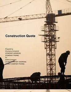Quotes On Construction Quote Template For Your Business 10 Free Samples