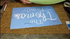 How To Make Your Own Stencils In Cricut Design Space Diy Personalized Doormat Using Cricut Stencil Vinyl Cricut