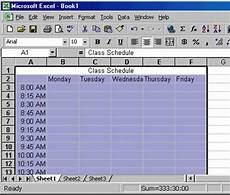 Making A Schedule In Excel Creating A Class Schedule Using Excel