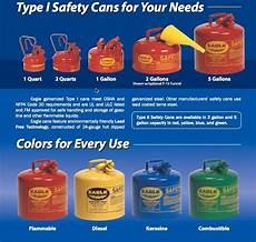 Gasoline Color Chart Eagle Gas Cans Fuel Storage Containers Absorbentsonline