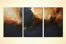 Light And Dark Artists Modern Buy Large Home Decor Painting Triptych Sea Dark 5153
