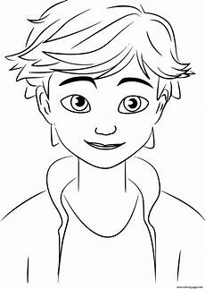 Miraculous Malvorlagen Free Miraculous Adrien Agreste Coloring Pages Printable