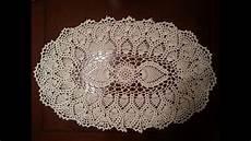 crochet doily oval pineapple doily part 1