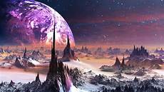 space landscape wallpaper 4k spiky scifi planet landscape 4k ultrahd wallpaper