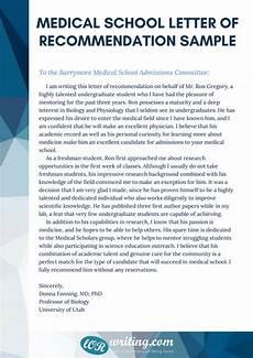 Sample Medical School Recommendation Letter Professional Medical School Recommendation Letter Example
