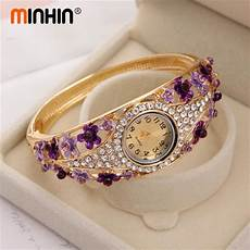 Delicate Gold Bracelet Design Minhin Lovely Bangle Watches Delicate Gold Plated