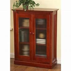 glass front door cabinet cherry 161749